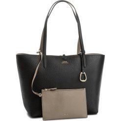 Torebka LAUREN RALPH LAUREN - Merrimack 431697234007  Black/Taupe. Brązowe torebki klasyczne damskie Lauren Ralph Lauren, ze skóry ekologicznej, duże. Za 789,90 zł.