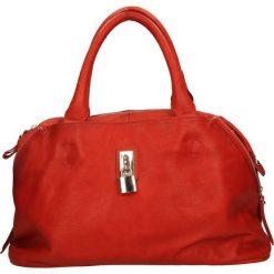 TOREBKA SKÓRZANA 2107. Czerwone torebki klasyczne damskie marki Melissa, z kauczuku. Za 169,99 zł.