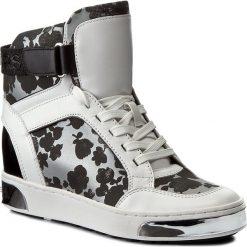 Sneakersy MICHAEL MICHAEL KORS - Pia 43R7PAFE5Q  Floral. Czarne sneakersy damskie marki MICHAEL Michael Kors, z gumy, przed kolano, na wysokim obcasie. W wyprzedaży za 789,00 zł.