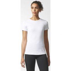 KOSZULKA  ADIDAS KR.REKAW WHITE SPEED TEE. Białe bluzki z odkrytymi ramionami Adidas, z elastanu, z krótkim rękawem. Za 76,99 zł.