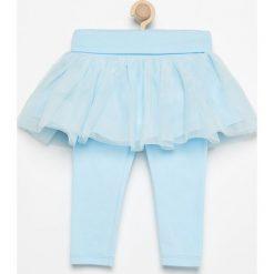 Legginsy dziewczęce: Legginsy z tiulową spódniczką – Niebieski