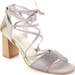 Rzymianki damskie: Sandały damskie sznurowane szare Jezzi