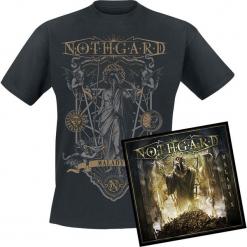 Nothgard Malady X CD + T-Shirt standard. Czarne t-shirty damskie Nothgard, l, z bawełny. Za 99,90 zł.