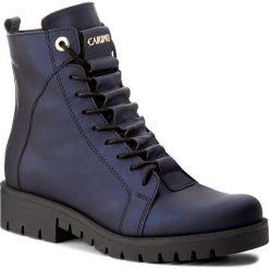Botki CARINII - B4051  K54-000-POL-C52. Niebieskie buty zimowe damskie Carinii, ze skóry, na obcasie. W wyprzedaży za 269,00 zł.