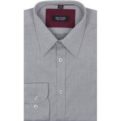 Koszule męskie na spinki: koszula verson 1703 długi rękaw slim fit szary
