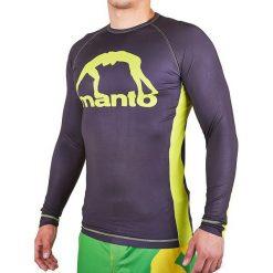 Koszulki sportowe męskie: Manto Koszulka męska Long Sleeve Rashguard Logo fioletowa r. XL (MNR812)