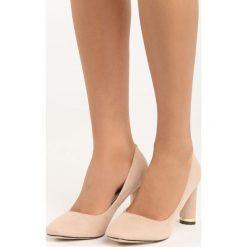 Beżowe Czółenka All Day. Brązowe buty ślubne damskie Born2be, na obcasie. Za 59,99 zł.