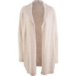 Długi sweter rozpinany, długi rękaw bonprix biel wełny melanż. Białe kardigany damskie marki Reserved, l. Za 49,99 zł.