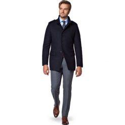 Kurtka Granatowa Cyprios. Czarne kurtki męskie zimowe marki LANCERTO, m, z bawełny, eleganckie. W wyprzedaży za 499,90 zł.