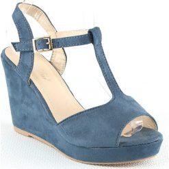 Rzymianki damskie: Sandały w kolorze niebieskim