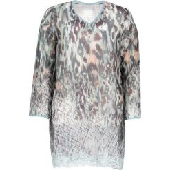 Koszule nocne i halki: Koszulka piżamowa w kolorze miętowo-antracytowym