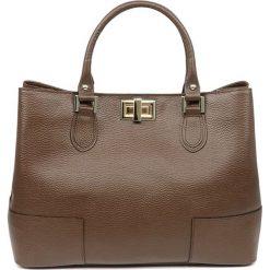 """Torebki klasyczne damskie: Skórzana torebka """"Jeanne"""" w kolorze brązowym – 34 x 26 x 12 cm"""