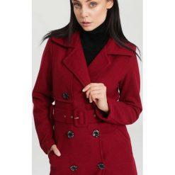 Odzież damska: Bordowy Płaszcz Apparent