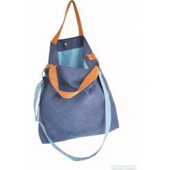 Torba hobo XXL - kobalt, pomarańcz, błękit. Niebieskie torebki klasyczne damskie Pakamera, z syntetyku. Za 119,00 zł.