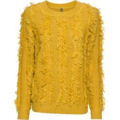 Sweter dzianinowy bonprix żółty curry. Żółte swetry klasyczne damskie marki Mohito, l, z dzianiny. Za 89,99 zł.