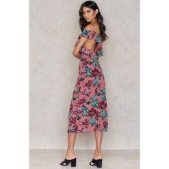 Długie sukienki: For Love & Lemons Sukienka Maxi Flamenco - Pink,Multicolor