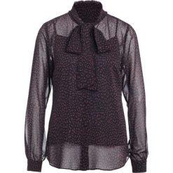 MICHAEL Michael Kors CHEETAH TIE Bluzka walnut. Brązowe bluzki damskie MICHAEL Michael Kors, xs, z materiału. W wyprzedaży za 443,40 zł.