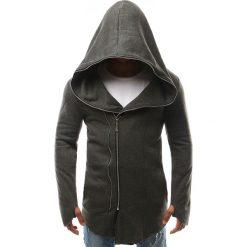 Bluzy męskie: Bluza męska z kapturem rozpinana antracytowa (bx2334)