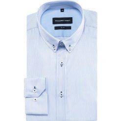 Koszula SIMONE KDWS000385. Szare koszule męskie na spinki Giacomo Conti, m, w paski, button down, z długim rękawem. Za 169,00 zł.