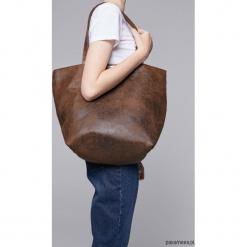 Zamszowa torba - shopper mild. Szare shopper bag damskie marki Pakamera, z bawełny, na ramię, zamszowe. Za 139,00 zł.