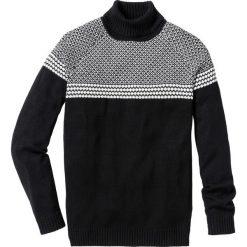 Golfy męskie: Sweter z golfem Regular Fit bonprix czarny