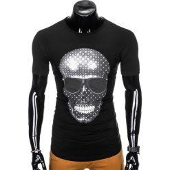 T-SHIRT MĘSKI Z NADRUKIEM S999 - CZARNY. Czarne t-shirty męskie z nadrukiem Ombre Clothing, m, z bawełny. Za 29,00 zł.