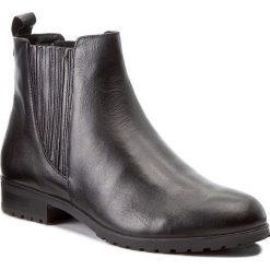 Sztyblety CAPRICE - 9-25352-29 Black Nappa 022. Czarne buty zimowe damskie Caprice, z materiału, na obcasie. W wyprzedaży za 229,00 zł.