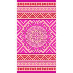 """Kąpielówki męskie: Ręcznik plażowy """"Indigo"""" w kolorze różowo-pomarańczowym – 160 x 86 cm"""