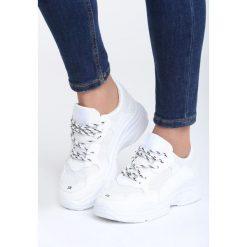 Białe Sneakersy Wonderwall. Czarne sneakersy damskie marki Born2be, z materiału. Za 89,99 zł.