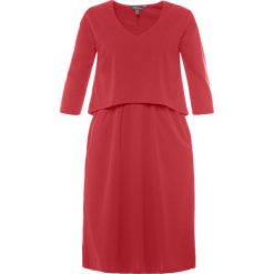 Sukienki hiszpanki: Prosta sukienka z krótkimi rękawami, jednokolorowa, długość midi