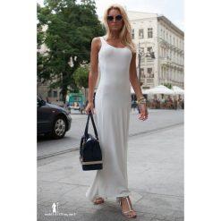 Sukienka kremowa. Białe sukienki marki Fasardi, l. Za 39,00 zł.