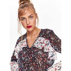 BLUZKA DŁUGI RĘKAW O LUŹNYM KROJU. Szare bluzki asymetryczne Top Secret, eleganckie, z długim rękawem. Za 99,99 zł.