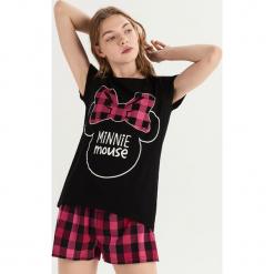 Piżama z nadrukiem Minnie Mouse - Czarny. Czarne piżamy damskie marki Reserved, l. Za 49,99 zł.