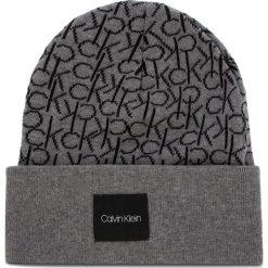 Czapka CALVIN KLEIN - Ck Knitted Beanie M K50K504103 013. Szare czapki męskie Calvin Klein, z bawełny. Za 159,00 zł.