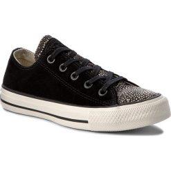 Tenisówki CONVERSE - Ctas Ox 157666C Black/Black/Egret. Czarne tenisówki męskie Converse, z gumy. W wyprzedaży za 259,00 zł.