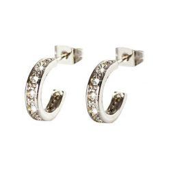 Kolczyki damskie: Kolczyki-półkreole z kryształkami Swarovski