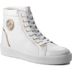Sneakersy GUESS - FLACE3 LEP12 WHITE. Białe sneakersy damskie marki Guess, z materiału. W wyprzedaży za 499,00 zł.