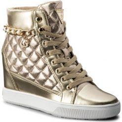 Sneakersy GUESS - Forty FLFRT1 LEL12 GOLD. Czarne sneakersy damskie marki Guess, z materiału. W wyprzedaży za 299,00 zł.