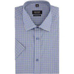 Koszula bexley 2574 krótki rękaw custom fit niebieski. Szare koszule męskie marki Recman, na lato, l, w kratkę, button down, z krótkim rękawem. Za 99,99 zł.