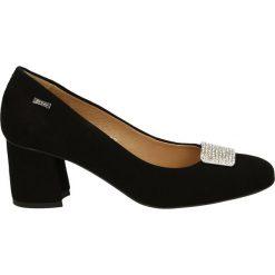 Czółenka - 2721 NERO 14A. Czarne buty ślubne damskie Venezia, ze skóry. Za 199,00 zł.