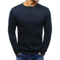 Bluzy męskie: Bluza męska gładka granatowa (bx2001)