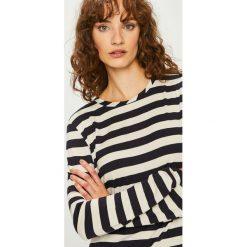 Vero Moda - Bluzka. Szare bluzki z odkrytymi ramionami marki Vero Moda, l, z dzianiny, casualowe, z okrągłym kołnierzem. Za 119,90 zł.