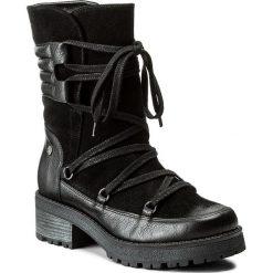 Kozaki EVA MINGE - Adora 2B 17MJ1372188EF 601. Czarne buty zimowe damskie Eva Minge, ze skóry, przed kolano, na wysokim obcasie, na obcasie. W wyprzedaży za 299,00 zł.