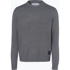 Calvin Klein Jeans - Sweter męski z dodatkiem kaszmiru, szary. Szare swetry klasyczne męskie marki Calvin Klein Jeans, m, z bawełny. Za 449,95 zł.