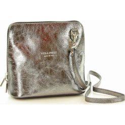 ELAINA Listonoszka skórzana torebka MAZZINI srebrna. Czerwone listonoszki damskie Vera Pelle, w geometryczne wzory, ze skóry, przez ramię. Za 139,00 zł.