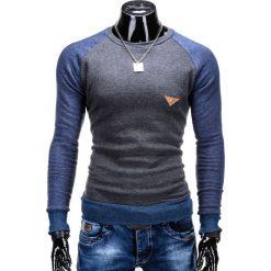 Bluzy męskie: BLUZA MĘSKA BEZ KAPTURA B453 – GRAFITOWA