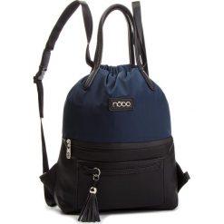Plecak NOBO - NBAG-F4330-C013 Granatowy Z Czarnym. Niebieskie plecaki damskie Nobo, z materiału, eleganckie. W wyprzedaży za 179,00 zł.
