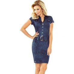 Paris Sukienka szmizjerka z guzikami - JEANSOWA. Niebieskie sukienki na komunię numoco, s, z jeansu, szmizjerki. Za 169,00 zł.