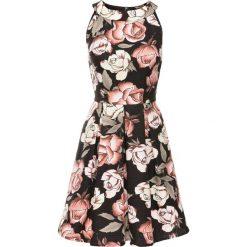 Sukienki hiszpanki: Sukienka wzorzysta bonprix czarno-jasnoróżowy w kwiaty
