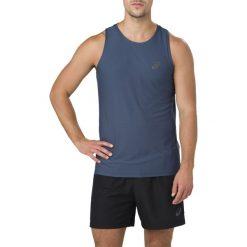 Koszulka Asics SINGLET M Niebieska. Niebieskie koszulki sportowe męskie Asics, m. Za 69,99 zł.